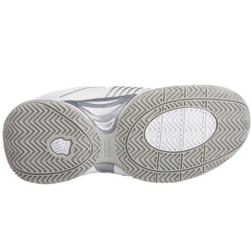 K-Swiss ACCOMPLISH LS~WHITE/PLATINUM~M 91805-147-M - Zapatillas de tenis de cuero para mujer Blanco