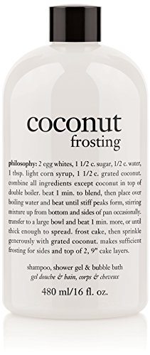Philosophy Coconut Frosting Shampoo/Shower Gel/Bubble Bath, 16 Ounces