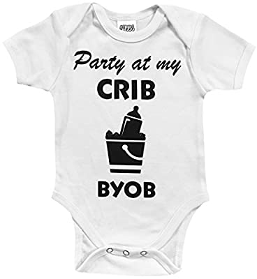 CHUBS Party At My Crib Bodysuit, Our Funny Baby Clothes Are Proudly Made In The USA!