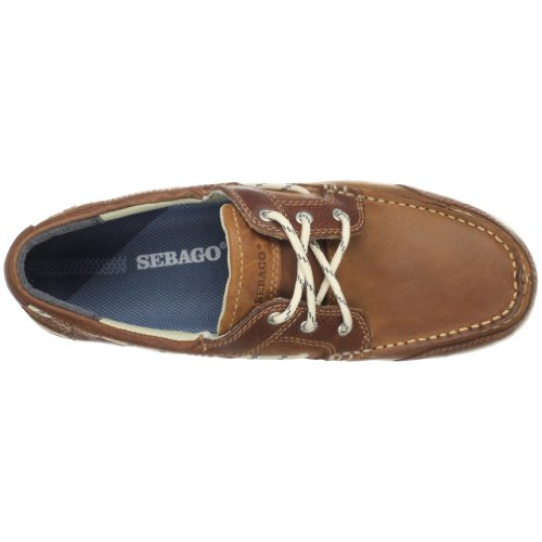 Marrone Brown Sebago Scarpa da uomo Triton Three British Eye Tan zYYwxUq4f