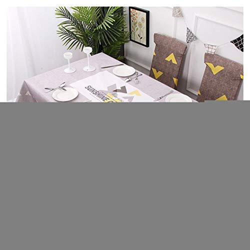 GUOCU Mantel Rectangular Impermeable Antimanchas Algodon Lino Mantel de Mesa Decoracion para Cocina Comedor Fiesta Mantel Silla Juego de Tela Sol Dos Fundas para sillas