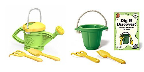 Green Toys Dig & Discover and Watering Can Set Green/Yellow