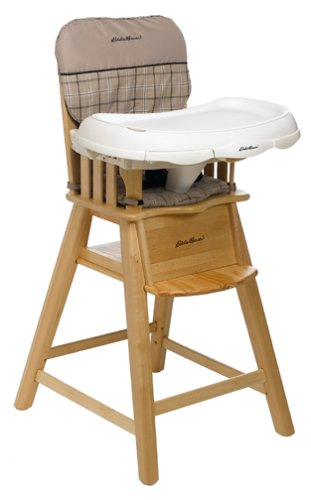 Merveilleux Eddie Bauer Natural Wood High Chair   Ballard
