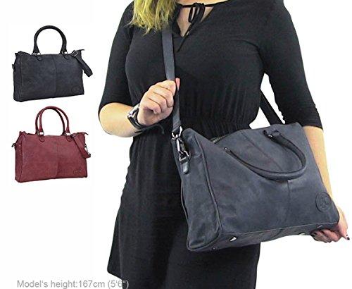 """Gusti Leder studio """"Yvonne"""" borsa shopper a mano tracolla città lavoro elegante graziosa spalla a mano grigio blu 2H56-29-6"""