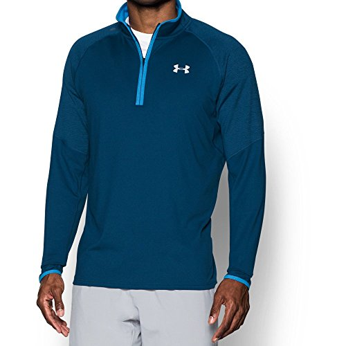 Under Armour Men's No Breaks Run 1/4 Zip, Blackout Navy /Reflective, Small by Under Armour (Image #4)