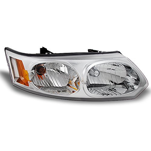 (For 2003-2007 Saturn Ion 4 Door Sedan Clear Passenger Right Side Front Headlight Head Lamp Front Light Replacement)