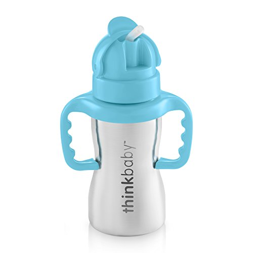 Thinkbaby Thinkster of Ultra Polished Stainless Steel, Blue