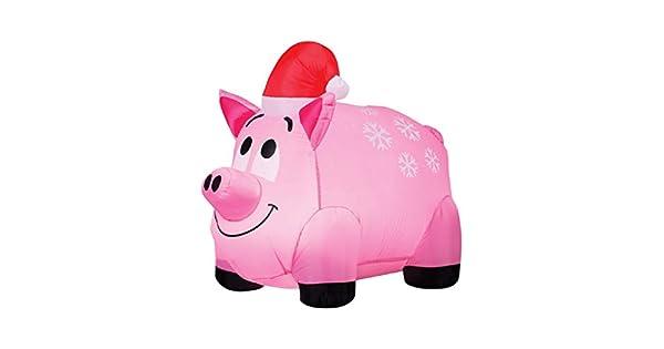 Amazon.com: Gemmy Industries copos de nieve y cerdo, tela ...
