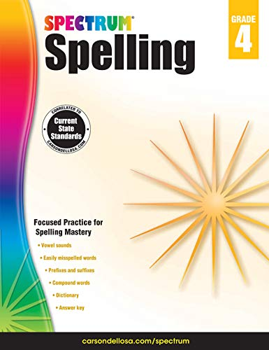 Carson-Dellosa Spectrum Spelling Workbook, Grade 4