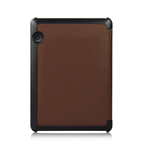 Tasche für Amazon Kindle Voyage 6.0 Zoll Schutz Hülle eBook-Reader Cover Diary Folio (Braun)