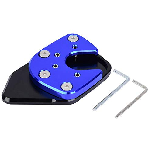 Motorcycle Foot Side Stand Extension Kickstand Pad Plate Anti-slip Kickstand Pad for NC750X 17-18 (Blue)