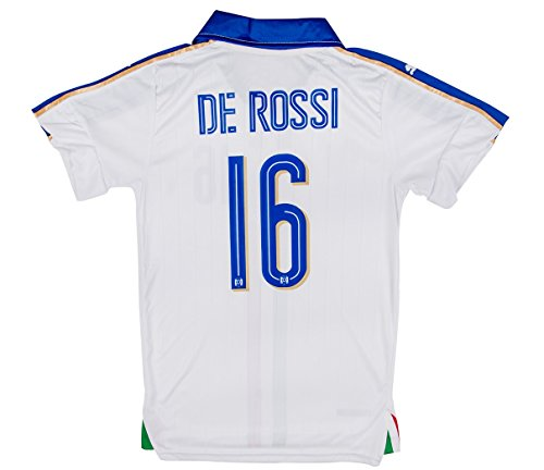 New! - Italy Euro 2016 #16 De Rossi Away Soccer Adult Fan Jersey (M) (Italy Training Jersey)