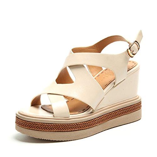 Slope con zapatos de suela gruesa plataforma/Aumento de las correas con los zapatos romanos F