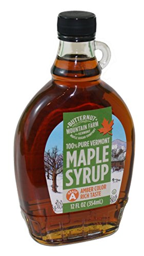(Butternut Mountain Grade 'A' Amber 12 Oz Glass Jug Vermont Maple Syrup )
