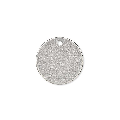 100 Flat 15mm Round Circle Blank Coin Drop Stamping Charms Plated Brass Metal (Antique Silver Plated)