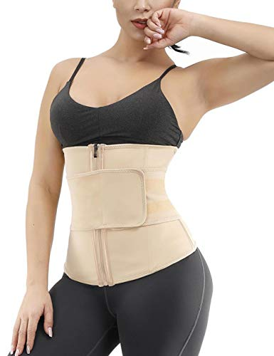 FEDNON Women's Waist Trainer Slimming Belt Tummy Control Sport Girdle (Best Waist Trainer For Long Torso)
