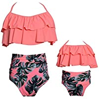 Kokowaii Fancy Mother and Daughter Swimwear Family Matching Swimsuit Girls Swimwear ¡