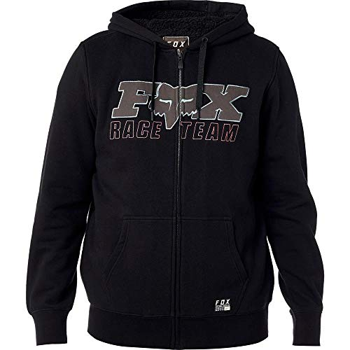 Fox Racing Race Team Sherpa Zip Hoody (XX-Large) (Black/Black) (Hoodie Fox Monster Racing)