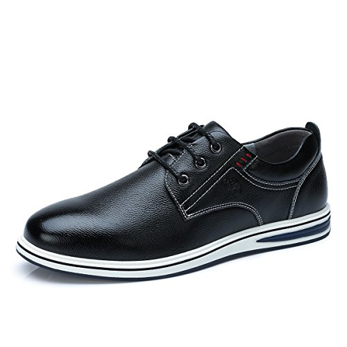 (CAMEL CROWN Youth Fashion Casual Oxford Shoes,Business Casual Walk Oxford,Lace-up Sneaker Black)