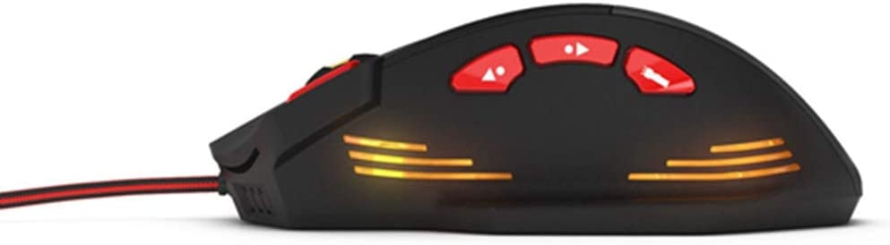BINGFEI 8000 DPI 8 Key Memory Chips Design 6 Optical LED Wired Game Mouse Optical Computer Mouse Ergonomic Mice for Laptop PC