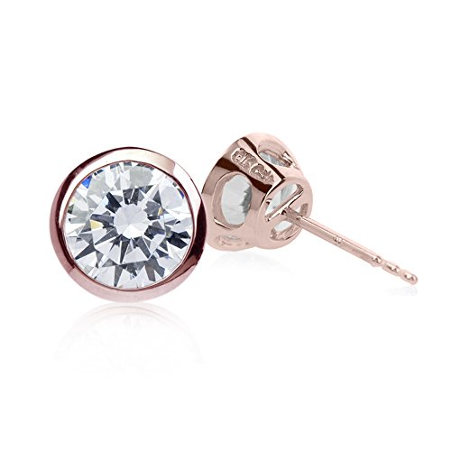 CARAT* London femme  9carats (375/1000)  Or rose|#Gold Rond   Blanc Andere