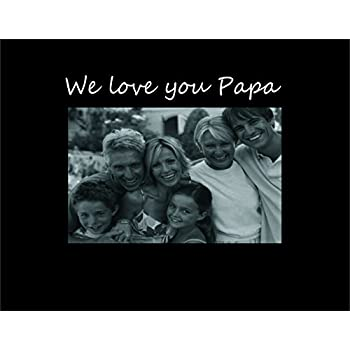 this item infusion gifts 9020 sb we love you papa photo frame small black