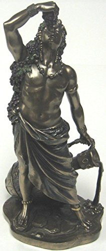 - Dionysus (Bucchus) Greek Roman God of Wine Statue Real Bronze Powder Cast Statue, 11-inch