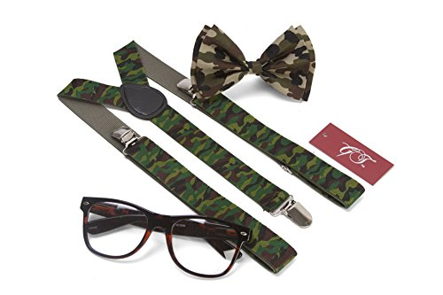 Gravity Hipster Nerd Outfit Kit, Camouflage Green ()