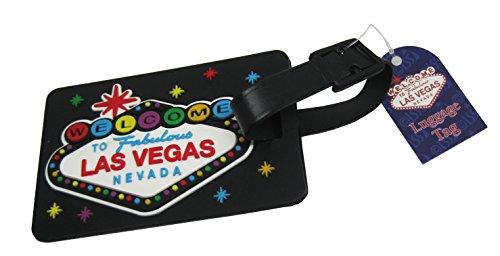 Las Vegas Sign Black Luggage Tag