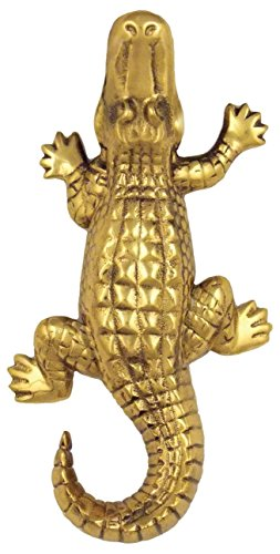 Michael Healy Designs MHR73 Alligator Doorbell Ringer - Brass,