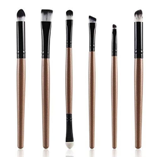 Brush,BeautyVan 6PCS Cosmetic Makeup Lip Makeup Brush (Gold)