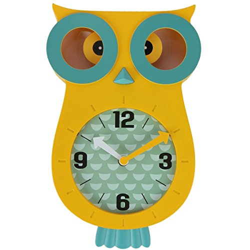 Owl wall Clocks with Revolving Eyes and Swinging