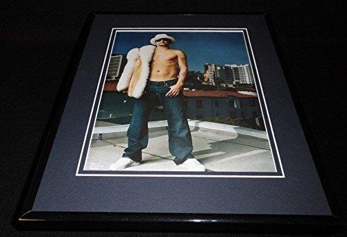 Rooftop Framed (Kid Rock 2007 Shirtless on Rooftop Framed 11x14 Photo Display)