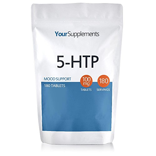 Your Supplements - 5-HTP 100mg Tablets - 180 Pack | Full Strength 100mg'Active' 5HTP | Mood and Sleep Support