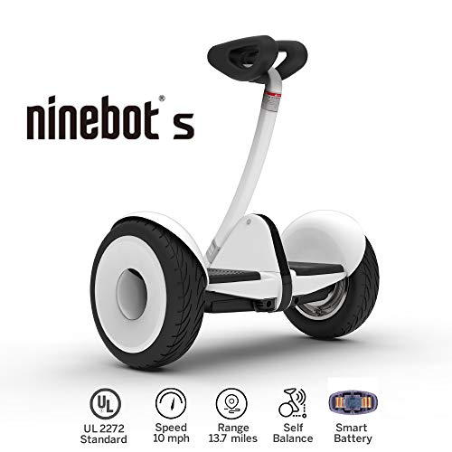Segway Ninebot S Smart Self Balancing Transporter - Pro Hoverboard for Adults & Kids - Dual 400W Motors UL2272 Certified (White)