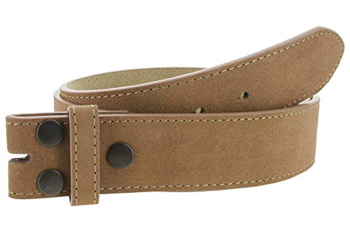 (Suede Leather Casual Jean Belt Strap for Men (Tan, 40))