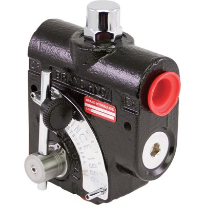 Brand Hydraulics Side-Ported Adjustable Flow Control Valve - 3/4in. NPT ports, 0-30 GPM, Relief Valve, Model# PFCR51-3/4 from Brand Hydraulics