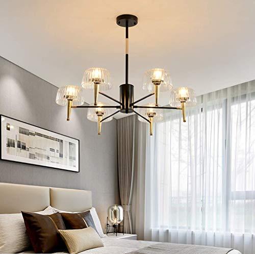 (ZLJ Chandelier Crystals Sputnik Ceiling Lights Semi Flush Mount Satellite Ceiling Light Mid Century Modern Pendant Light for Bedroom Living Room Kitchen Island, 6 Heads )