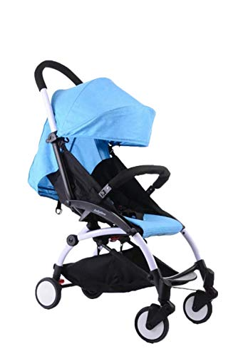 DYFAR Four Seasons prams fold High Landscape Toddlers Baby pushchairs Bidirectional Newborn Strollers Suitable for Children 0-3 Years Old car, Blue