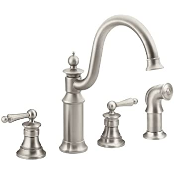 Moen S712srs Waterhill Two Handle High Arc Kitchen Faucet