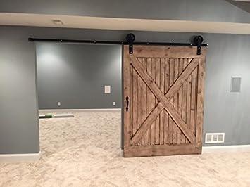 sliding barn door hardware kit jumbo wheel with 8u0027 96u0026quot track