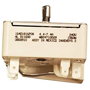 GE WB24T10029 Electric Range Infinite Switch, 6 Inch