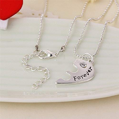 Davitu 3pcs Colar Davituhip Heart Charm Pendent Best Davitu Forever Necklaces Lovers' Collier BFF Statement Necklace Gift for Girls from DAVITU