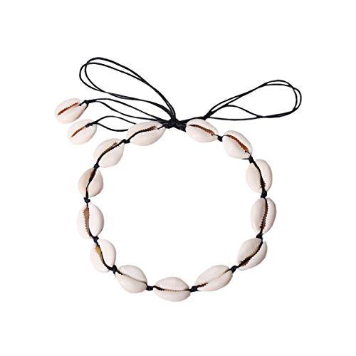 À De Avec Femme Décontracté Noir Bohémien Bracelet Main Pour Fait Acvip Ensemble Chaîne Coquillage Style La CSwqzq70