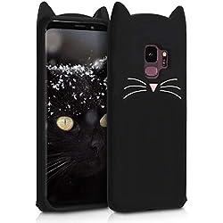 kwmobile Funda para Samsung Galaxy S9 - Carcasa Protectora de Silicona y diseño con Gato - Cover Trasero de móvil