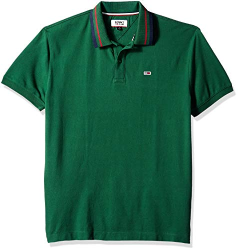 - Tommy Jeans Men's Polo Shirt Classics Collection, Hunter Green, Large
