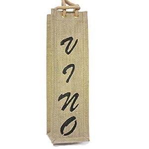 Natural Jute Wine Tote Bag Vino Handpainted Vino Jute Wedding Housewarming Gift
