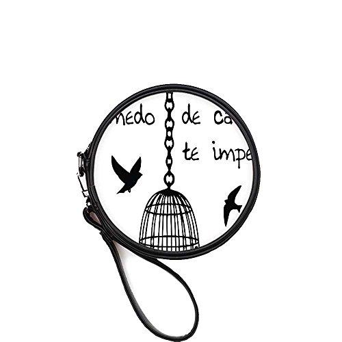 Price comparison product image Bird Cage Custom Interest Print Round Makeup Bag