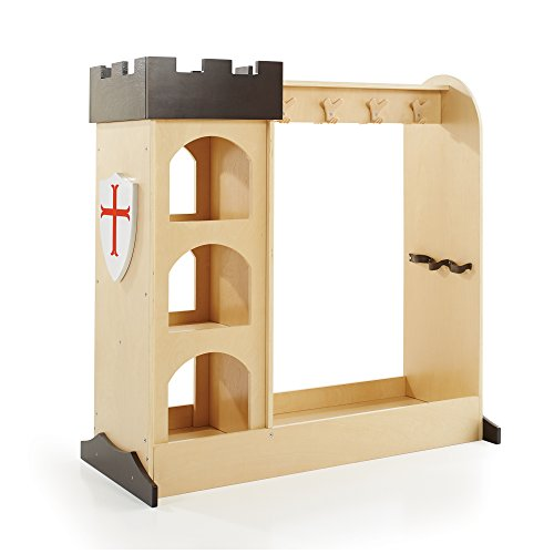 Dress Up Castle Storage (Guidecraft Children's Castle Dramatic Play Storage Center - Armoire, Dresser Kids' Furniture)