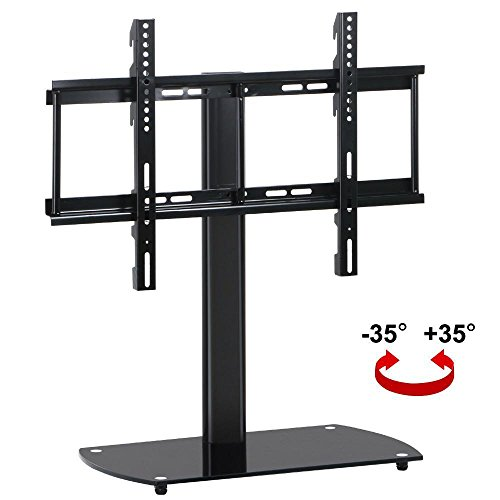 price tracking for topeakmart universal flat screen tv table top stand base swivel mount. Black Bedroom Furniture Sets. Home Design Ideas